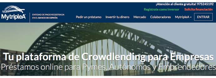 MytripleA: Crowdlending P2P para Empresas en España