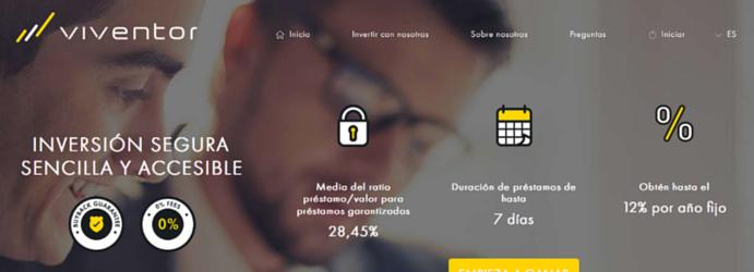 viventor : Plataforma de préstamos P2P con garantía de cobro