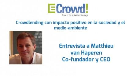 Entrevista Matthieu Van Haperen, CEO de Ecrowd